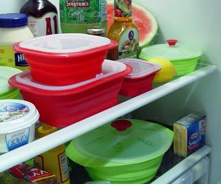 4 Piece Rect Set in fridge