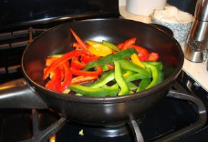 Peppers in Frying Pan