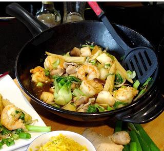 wok Schrimp stir fry