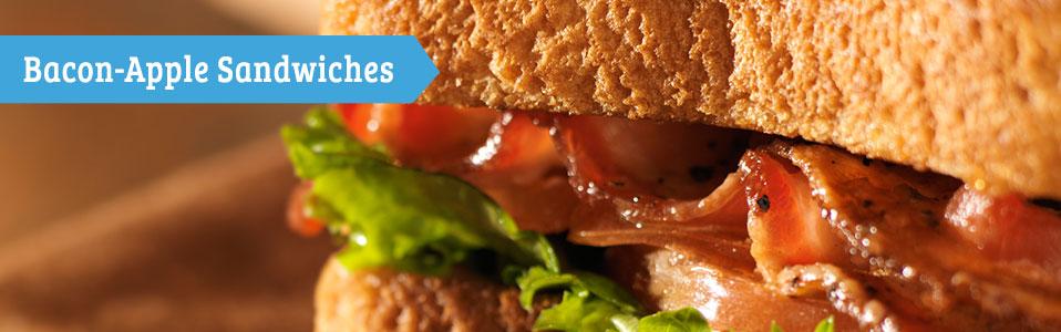 Bacon-Apple Sandwiches