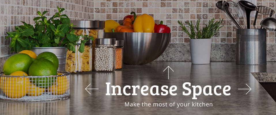 Increase space to make the most of your kitchen