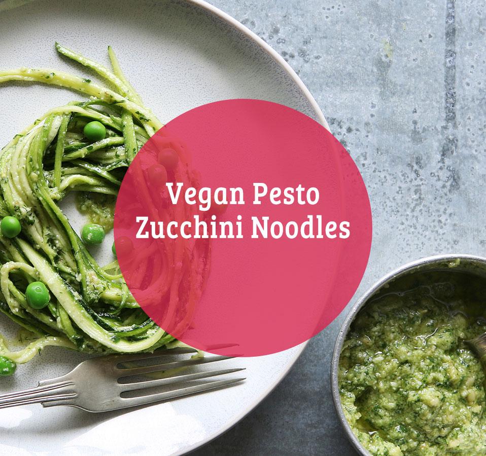 Vegan Pesto Zucchini Noodles