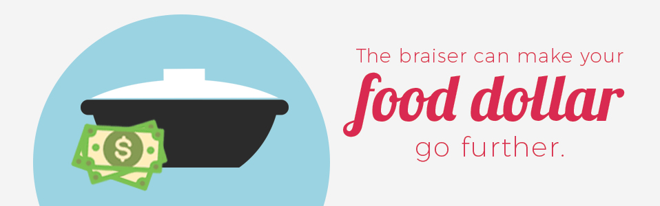 The braiser can make your food dollar go further.