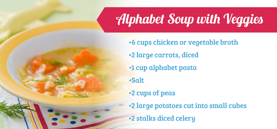 Alphabet Soup with Veggies