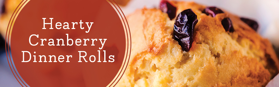 Hearty cranberry dinner rolls