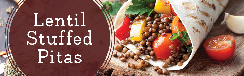 Healthy Lunch - Lentil Pitas