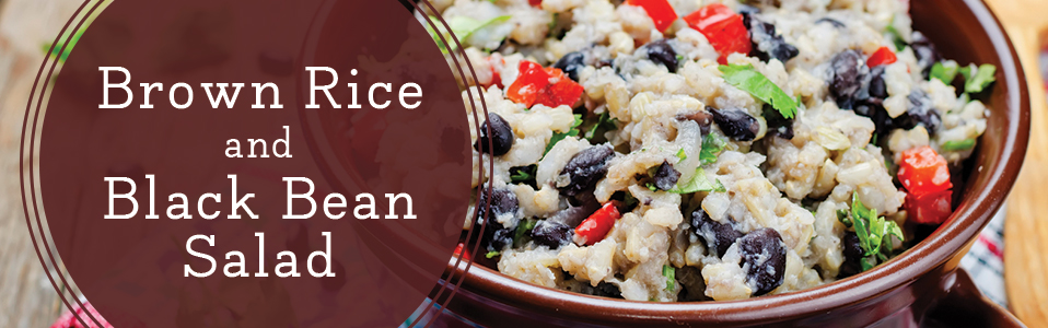 Healthy Lunch - Brown Rice and Bean Salad