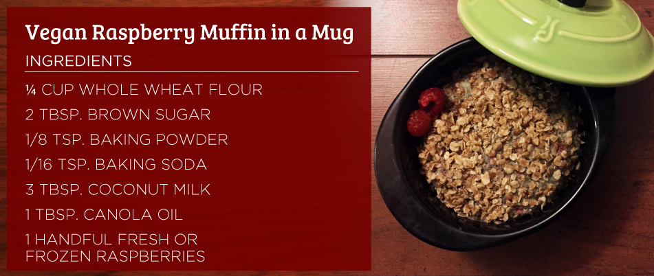Vegan Raspberry Muffin in a Mug