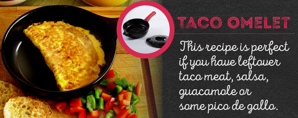 The taco omelet is the perfect way to use up leftover taco ingredients.
