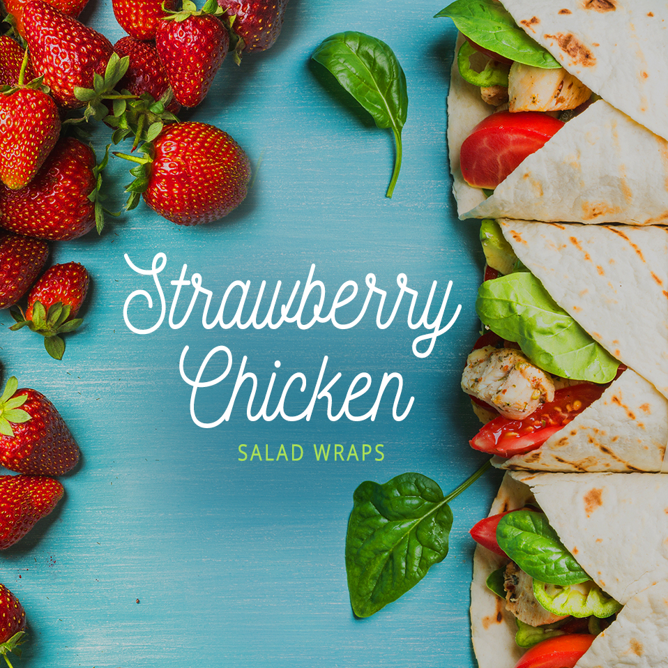 Strawberry Chicken Salad Wraps