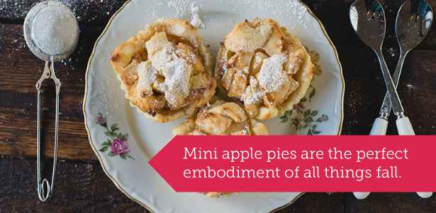 Mini apple pies for fall