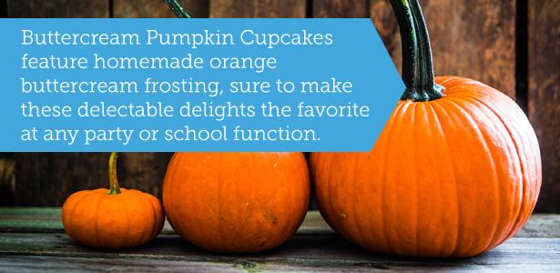 Buttercream pumpkin cupcakes for parties