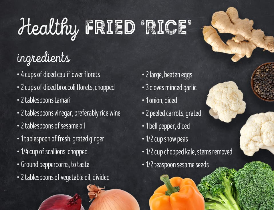 "Healthy fried ""rice"" recipe"