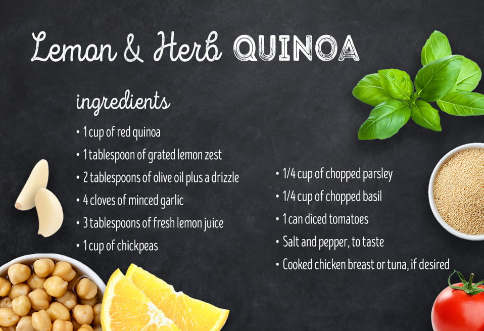 Lemon and herb quinoa recipe